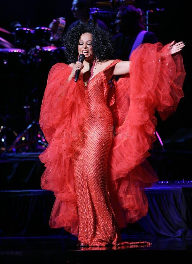 Diana Ross Performs de concert photo libre de droits
