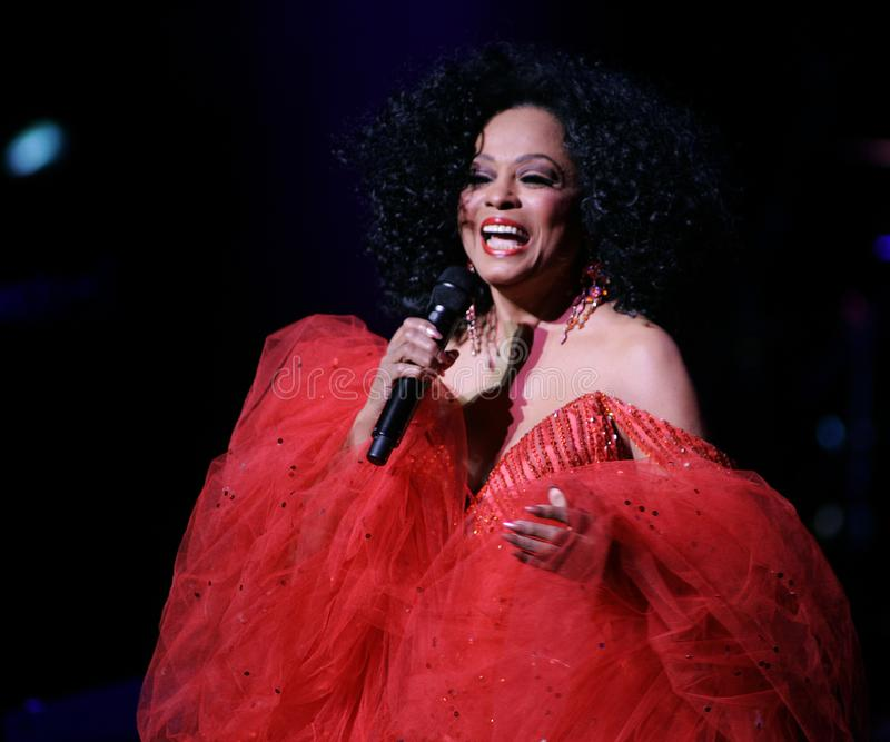 Diana Ross Performs de concert photographie stock libre de droits