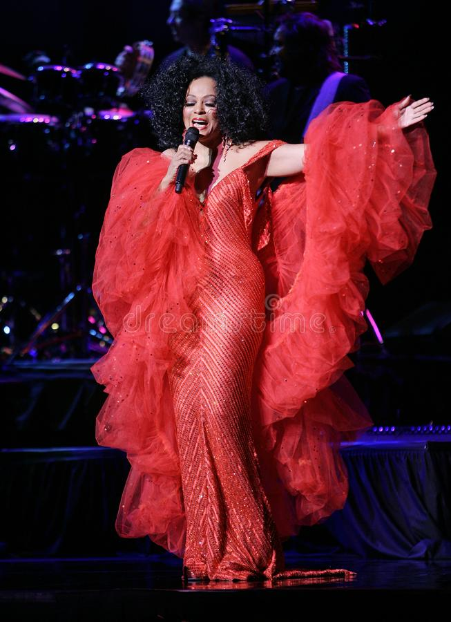 Diana Ross Performs in Overleg royalty-vrije stock foto