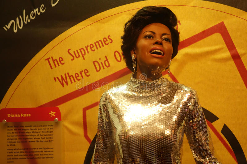 Diana Ross Wax Figure royalty free stock images