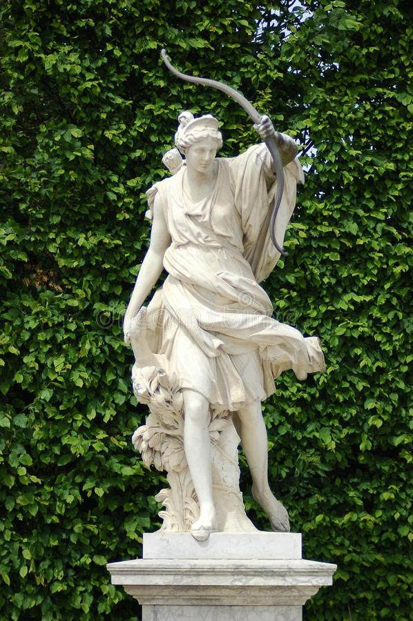 Diana ` s rzeźba od Versailles górskiej chaty fotografia stock