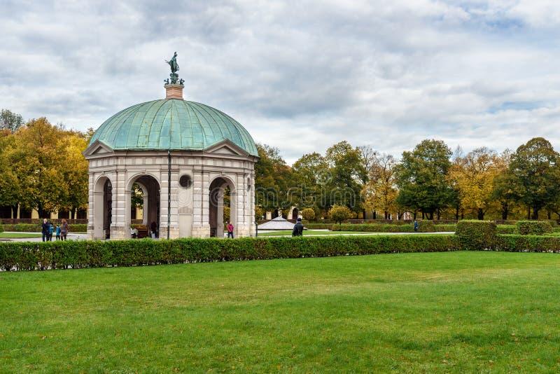 Diana Temple in garden Munich Hofgarten in Munich. Germany stock image