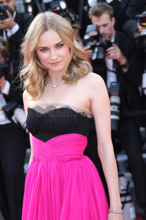 Diane Kruger. CANNES, FRANCE - MAY 23: Diane Kruger attends the Palme d'Or Closing Ceremony held at the Palais during the 63rd Cannes Film Festival on May 23 royalty free stock photography