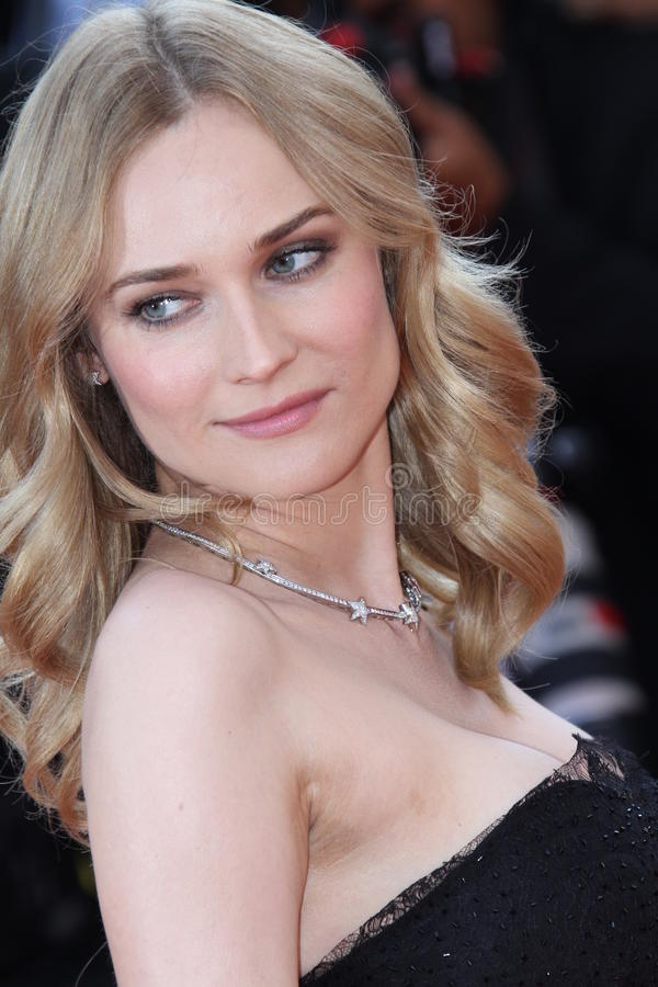 Diane Kruger. CANNES, FRANCE - MAY 23: Diane Kruger attends the Palme d'Or Closing Ceremony held at the Palais during the 63rd Cannes Film Festival on May 23 stock photos