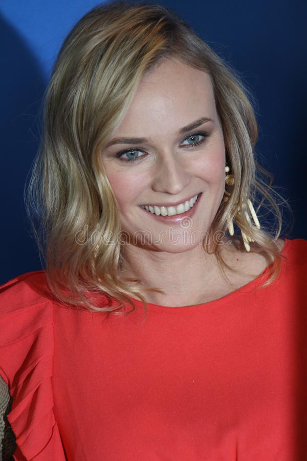 Diane Kruger. BERLIN, GERMANY - FEBRUARY 18: Actress Diane Kruger attends the 'Unknown' (Unknown Identity) Photocall during of the 61 Berlin Festival at the royalty free stock photography