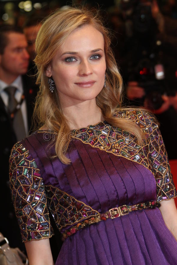 Diane Kruger. BERLIN, GERMANY - FEBRUARY 18: Actress Diane Kruger attends the 'Unknown' (Unknown Identity) during of the 61 Berlin Film Festival at Berlinale stock photos
