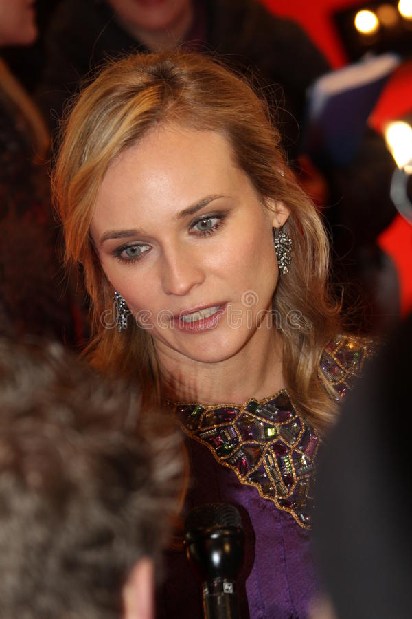 Diane Kruger. BERLIN, GERMANY - FEBRUARY 18: Actress Diane Kruger attends the 'Unknown' (Unknown Identity) during of the 61 Berlin Film Festival at Berlinale stock image
