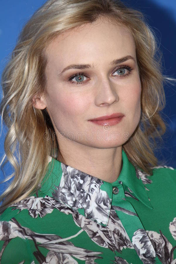 Diane Kruger. BERLIN, GERMANY - FEBRUARY 09: Actress Diane Kruger attends the 'Les Adieux De La Reine' Photocall during of the 62nd Berlin Film Festival at the royalty free stock image