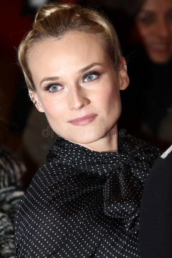 Diane Kruger. BERLIN, GERMANY - FEBRUARY 09: Diane Kruger attends the 'Les Adieux De La Reine' Premiere during of the 62nd Berlin Film Festival at the Berlinale royalty free stock photos
