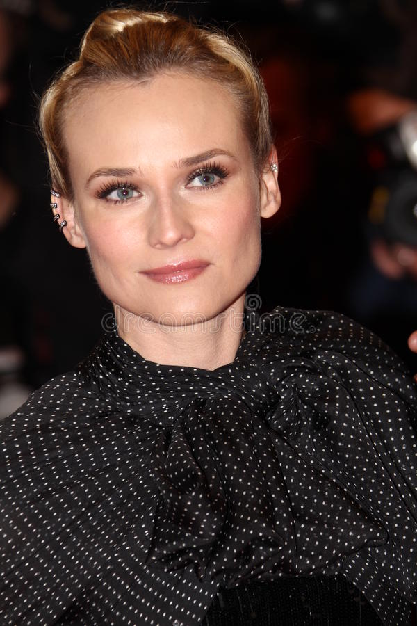 Diane Kruger. BERLIN, GERMANY - FEBRUARY 09: Diane Kruger attends the 'Les Adieux De La Reine' Premiere during of the 62nd Berlin Film Festival at the Berlinale royalty free stock image