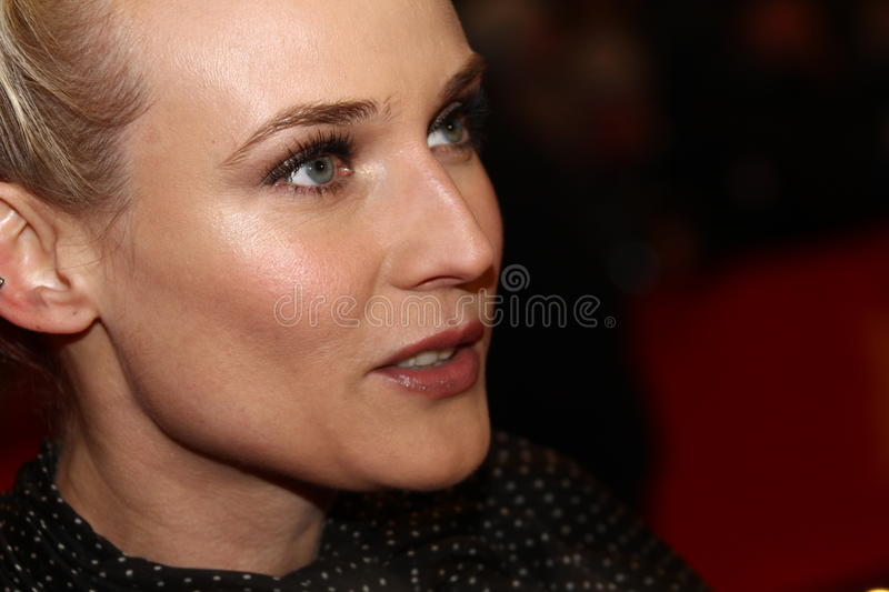 Diane Kruger. BERLIN, GERMANY - FEBRUARY 09: Diane Kruger attends the 'Les Adieux De La Reine' Premiere during of the 62nd Berlin Film Festival at the Berlinale stock image