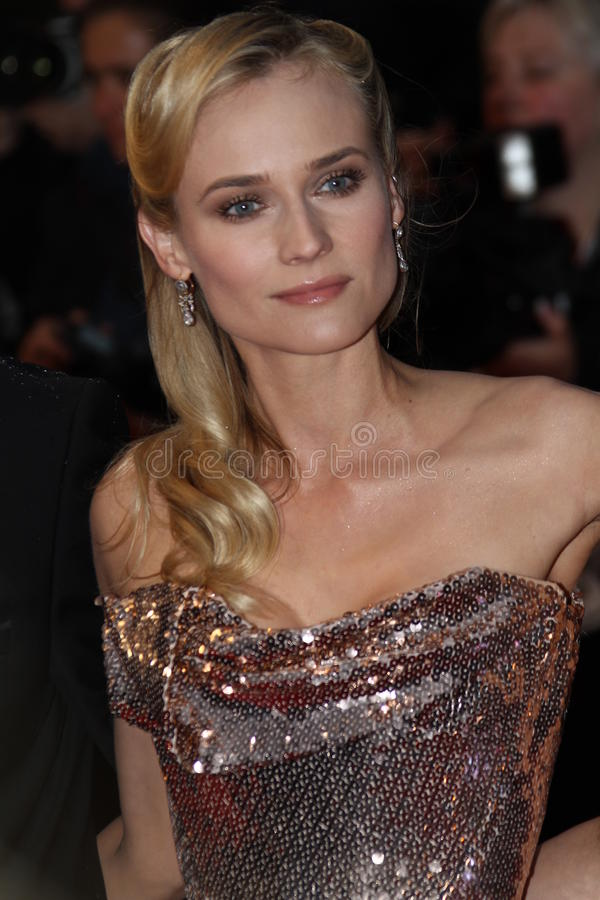 Diane Kruger. CANNES, FRANCE - MAY 20: Diane Kruger attends the 'Amour' Premiere during the 65th Annual Cannes Film Festival at Palais des Festivals on May 20 stock photo