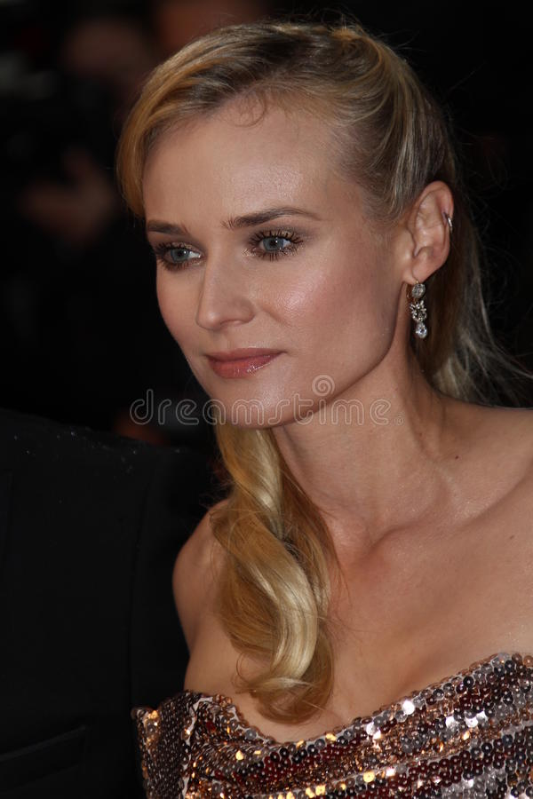 Diane Kruger. CANNES, FRANCE - MAY 20: Diane Kruger attends the 'Amour' Premiere during the 65th Annual Cannes Film Festival at Palais des Festivals on May 20 royalty free stock images