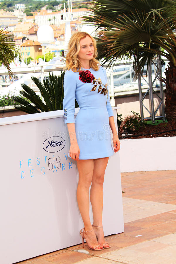 Diane Kruger. Attends the 'Disorder' photocall during the 68th annual Cannes Film Festival on May 16, 2015 in Cannes, France stock photos