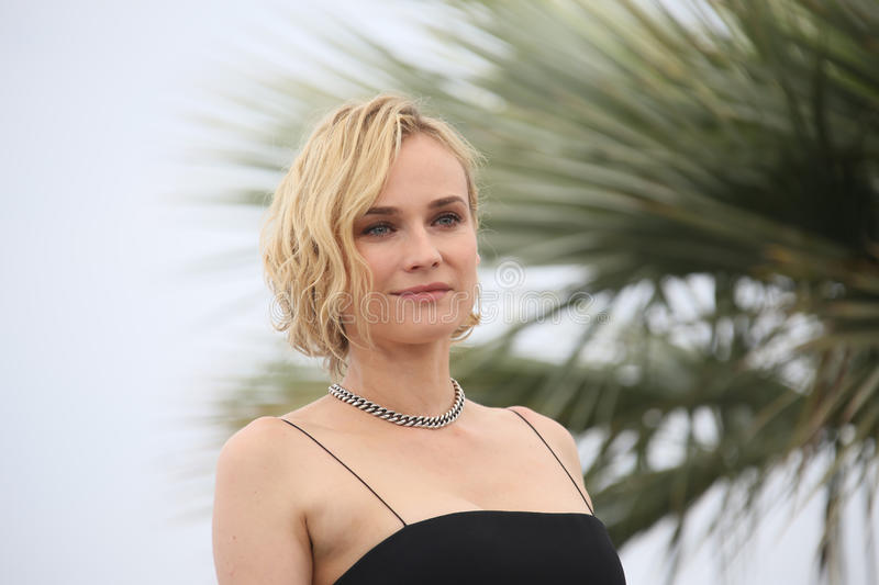 Diane Kruger attends the `In The Fade Aus Dem Nichts`. Photocall during the 70th annual Cannes Film Festival at Palais des Festivals on May 26, 2017 in Cannes royalty free stock photos