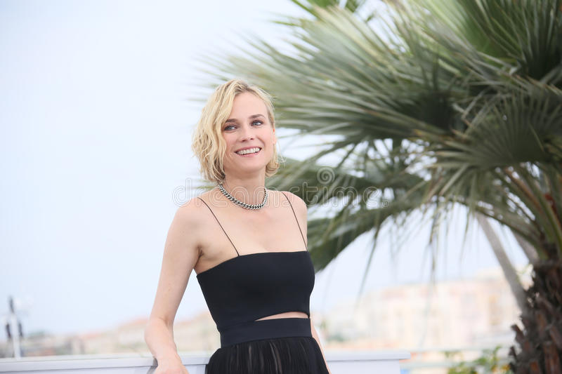 Diane Kruger attends the `In The Fade Aus Dem Nichts`. Photocall during the 70th annual Cannes Film Festival at Palais des Festivals on May 26, 2017 in Cannes royalty free stock photo