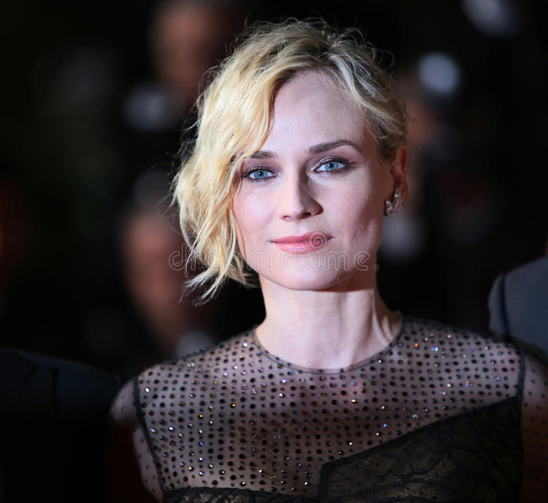 Diane Kruger attends the `In The Fade Aus Dem Nichts`. Premiere during the 70th Cannes Film Festival at Palais des Festivals on May 26, 2017 in Cannes, France royalty free stock photo