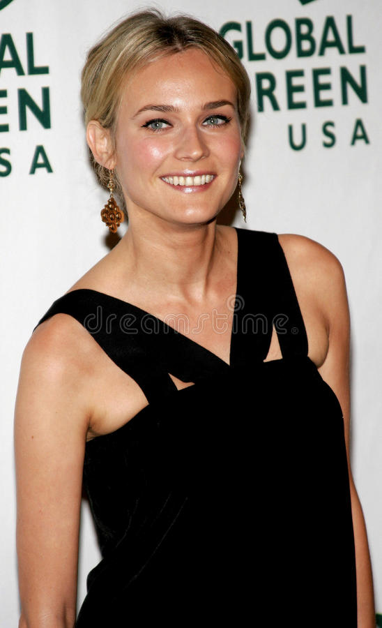 Diane Kruger. Attends the Global Green USA Pre-Oscar Celebration to Benefit Global Warming held at the The Avalon in Hollywood, California on February 21, 2007 stock images