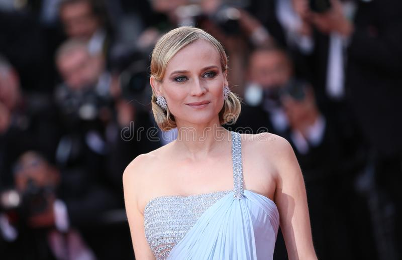 Diane Kruger attends the screening. Of `Sink Or Swim Le Grand Bain` during the 71st annual Cannes Film Festival at Palais des Festivals on May 13, 2018 in stock photo