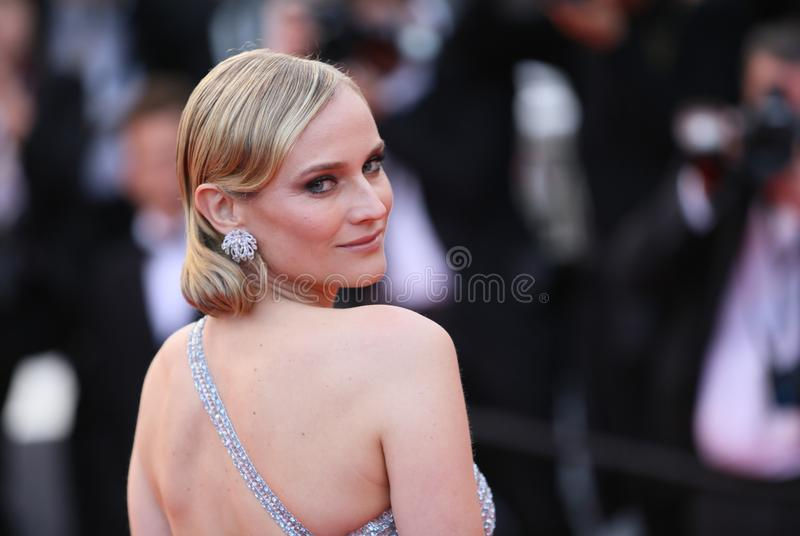 Diane Kruger attends the screening. Of `Sink Or Swim Le Grand Bain` during the 71st annual Cannes Film Festival at Palais des Festivals on May 13, 2018 in stock photos