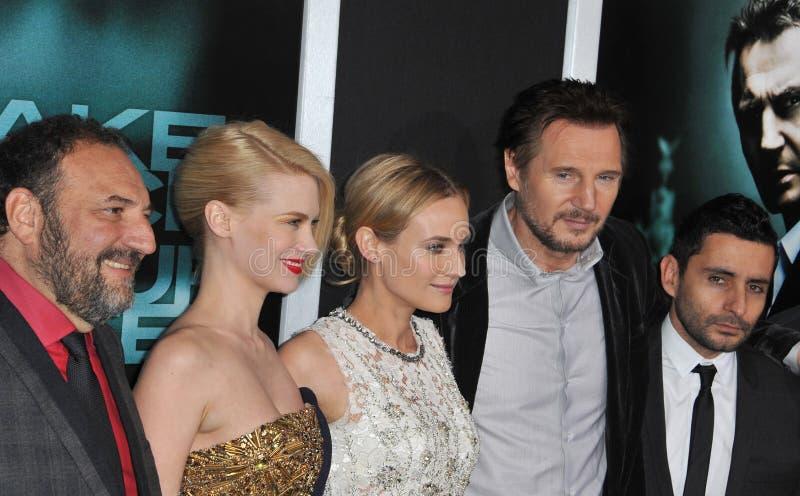Diane Kruger, enero Jones, Collar-Serra de Jaime, plata de Joel, Liam Neeson imagenes de archivo