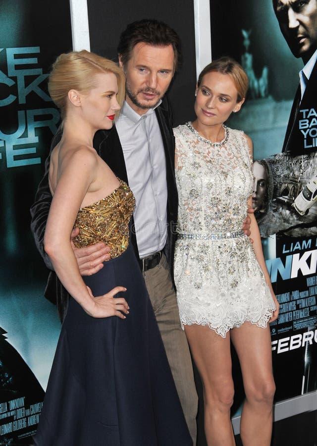 Diane Kruger, enero Jones, Liam Neeson imagenes de archivo