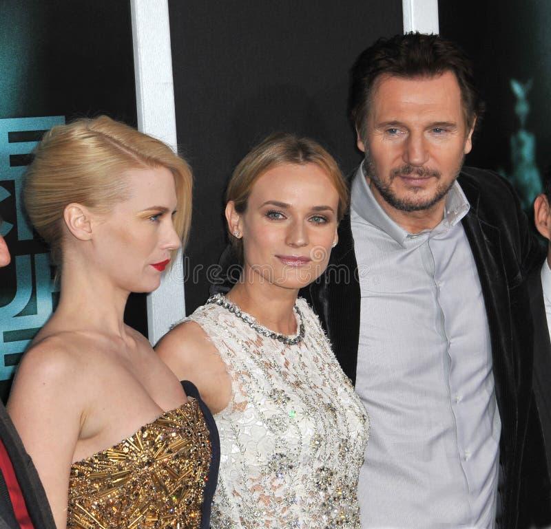 Diane Kruger, enero Jones, Liam Neeson imágenes de archivo libres de regalías