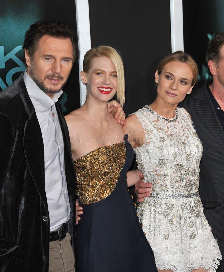 Diane Kruger, enero Jones, Liam Neeson foto de archivo