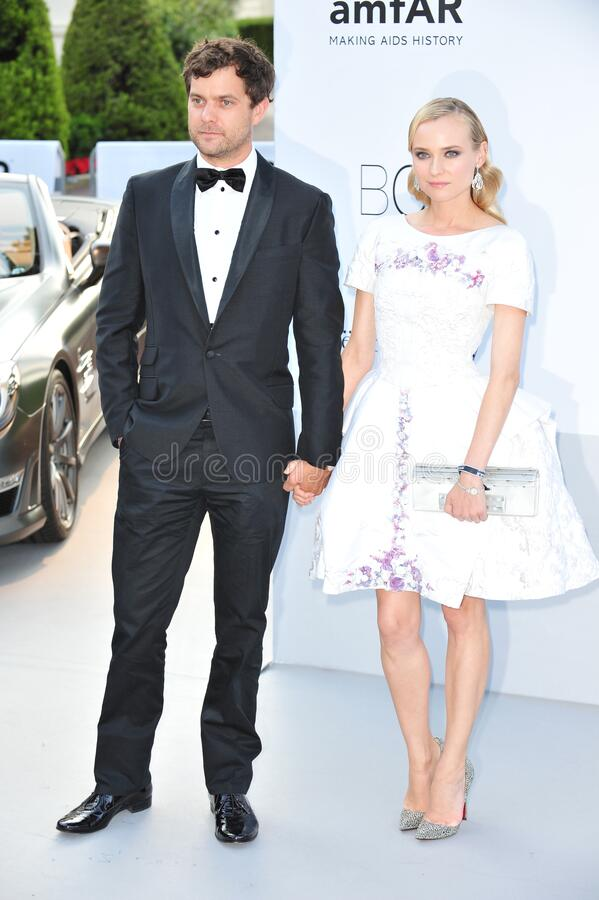 Diane Kruger & Joshua Jackson. ANTIBES, FRANCE - May 24, 2012: Diane Kruger & Joshua Jackson at the 2012 amfAR Cinema Against AIDS Gala at the Hotel du Cap royalty free stock photography