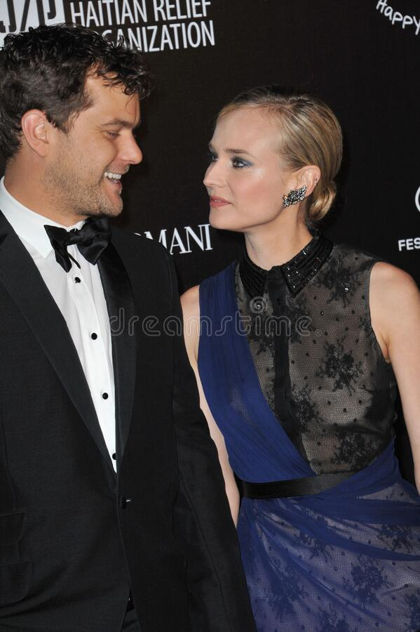 Diane Kruger & Joshua Jackson. CANNES, FRANCE - May 18, 2012: Diane Kruger & Joshua Jackson at the \'Haiti Carnaval in Cannes\' party at the 65th Festival de stock photos