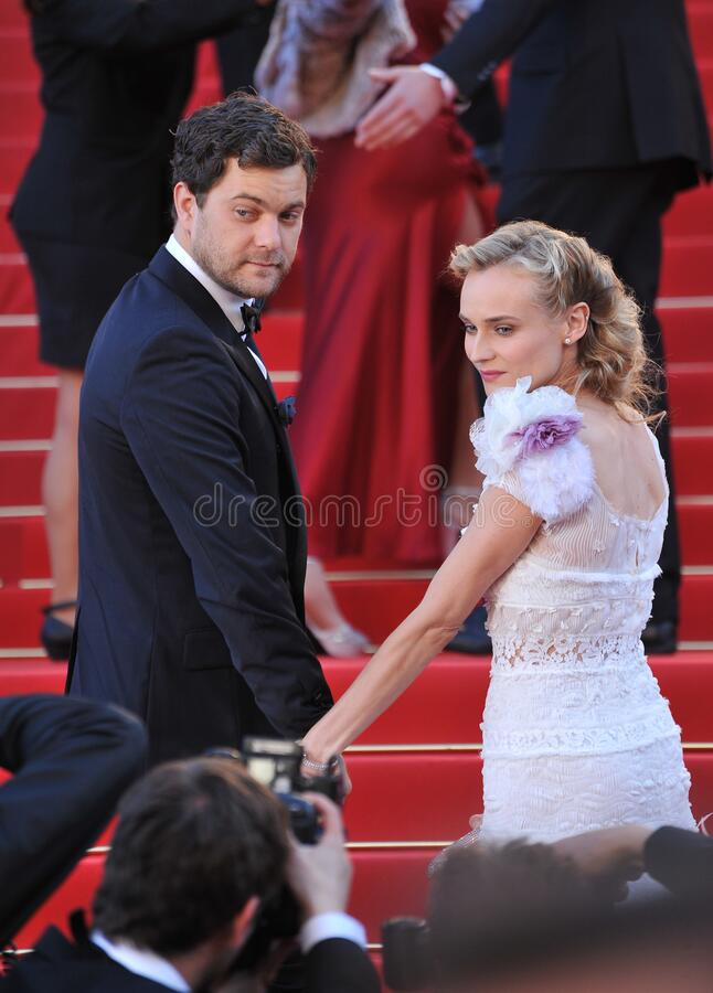 Diane Kruger & Joshua Jackson. CANNES, FRANCE - May 22, 2012: Diane Kruger & Joshua Jackson at the gala screening of \'Killing Them Softly\' in competition at royalty free stock photography