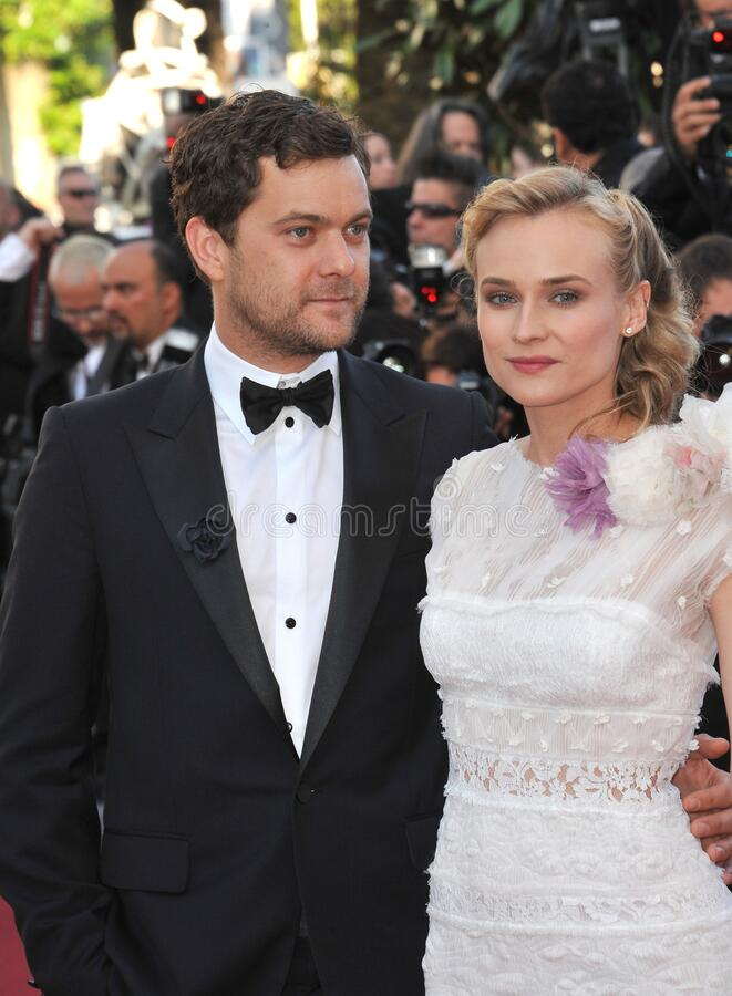 Diane Kruger & Joshua Jackson. CANNES, FRANCE - May 22, 2012: Diane Kruger & Joshua Jackson at the gala screening of \'Killing Them Softly\' in competition at stock photography