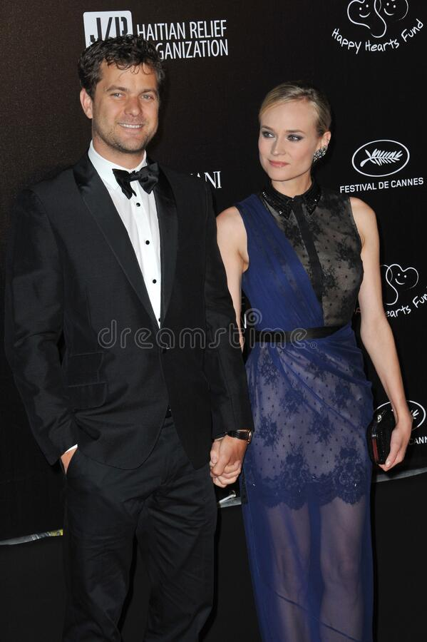 Diane Kruger & Joshua Jackson. CANNES, FRANCE - May 18, 2012: Diane Kruger & Joshua Jackson at the \'Haiti Carnaval in Cannes\' party at the 65th Festival de stock images