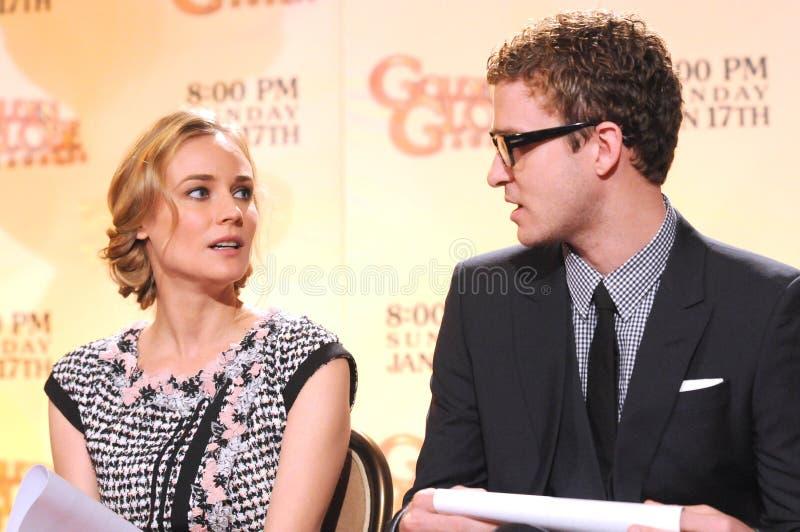 Diane Kruger Justin Timberlake arkivfoto