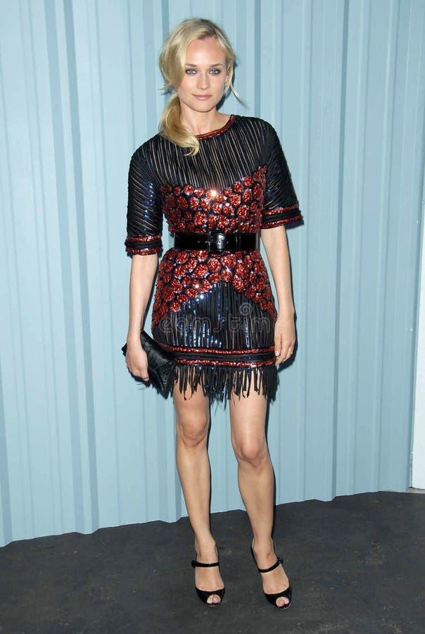 Diane Kruger, Karl Lagerfeld photographie stock libre de droits