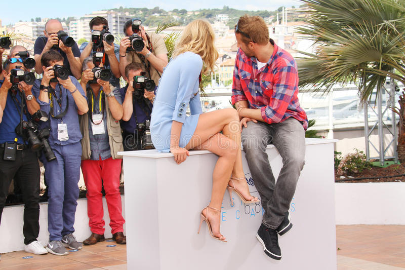 Diane Kruger, Matthias Schoenaerts. Attend the 'Disorder' photocall during the 68th annual Cannes Film Festival on May 16, 2015 in Cannes, France royalty free stock image