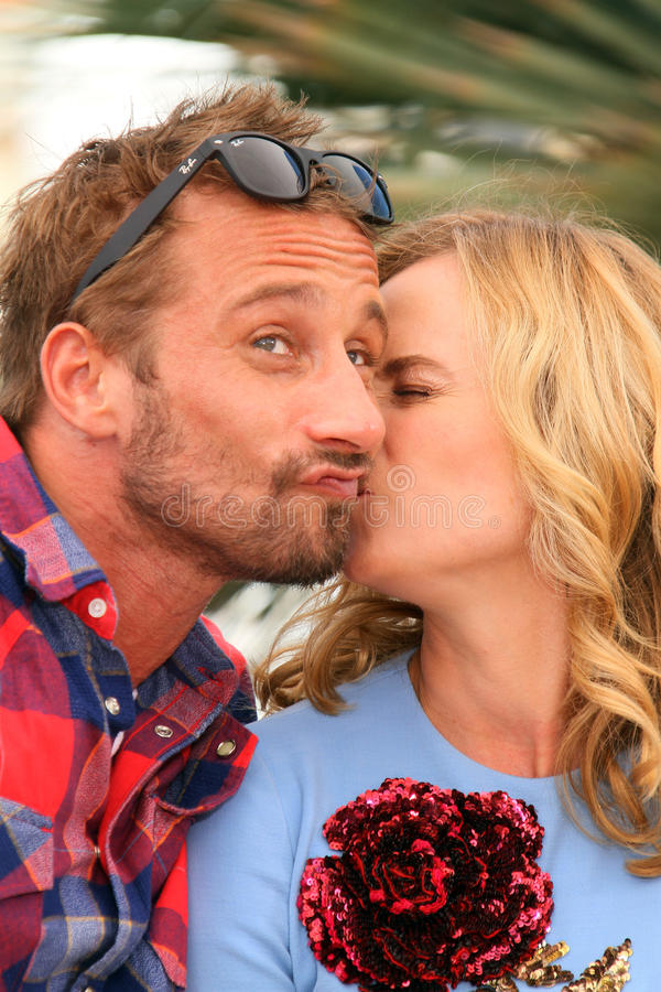 Diane Kruger, Matthias Schoenaerts. Attend the 'Disorder' photocall during the 68th annual Cannes Film Festival on May 16, 2015 in Cannes, France royalty free stock photos