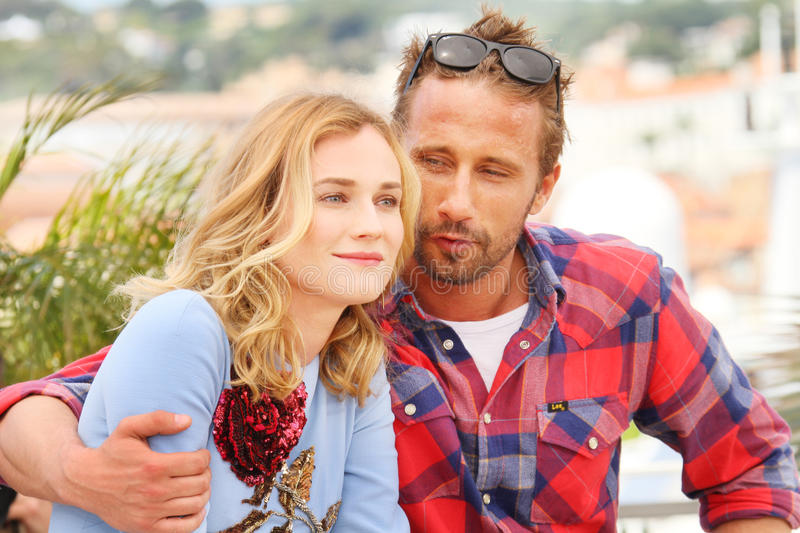 Diane Kruger, Matthias Schoenaerts. Attend the 'Disorder' photocall during the 68th annual Cannes Film Festival on May 16, 2015 in Cannes, France stock photography