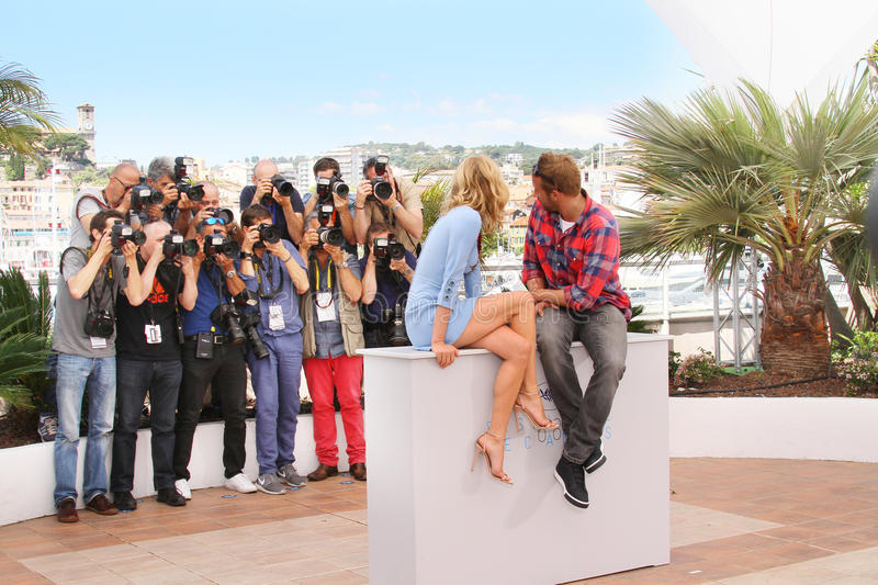 Diane Kruger, Matthias Schoenaerts. Attend the 'Disorder' photocall during the 68th annual Cannes Film Festival on May 16, 2015 in Cannes, France stock image
