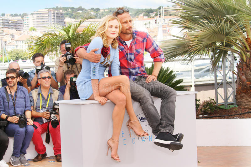 Diane Kruger, Matthias Schoenaerts. Attend the 'Disorder' photocall during the 68th annual Cannes Film Festival on May 16, 2015 in Cannes, France stock photo