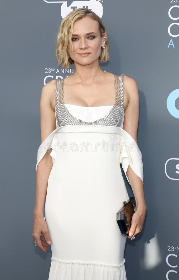 Diane Kruger. At the 23rd Annual Critics` Choice Awards held at the Barker Hangar in Santa Monica, USA on January 11, 2018 stock photos