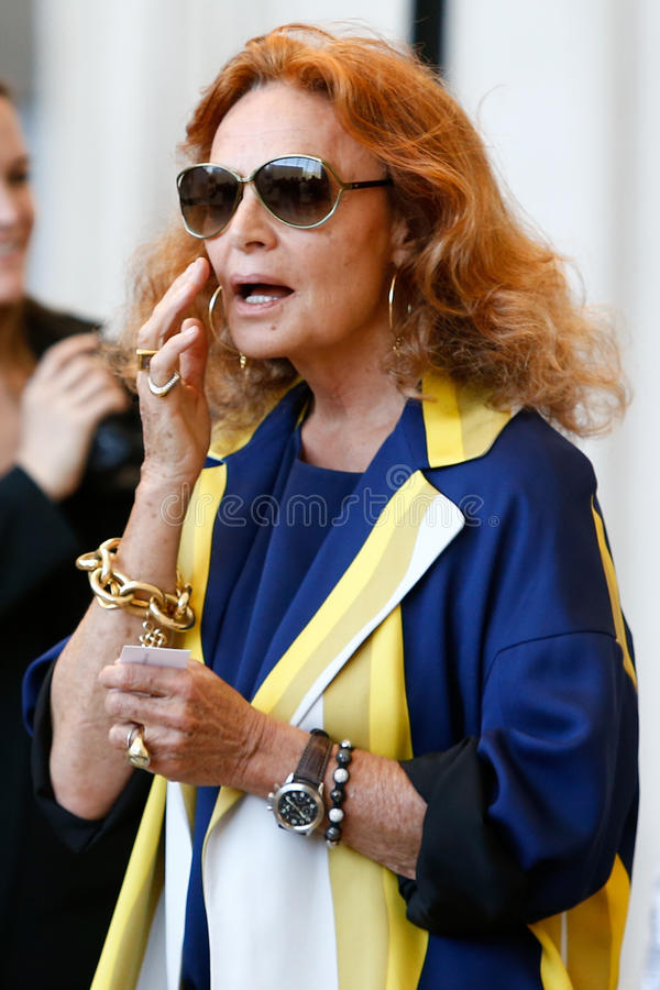 Diane von Furstenberg stock images