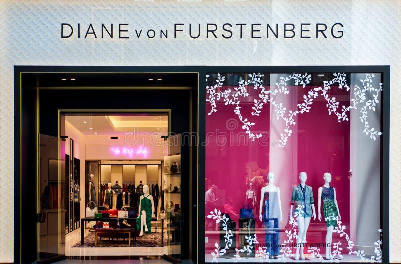 Diane von Furstenberg store stock images