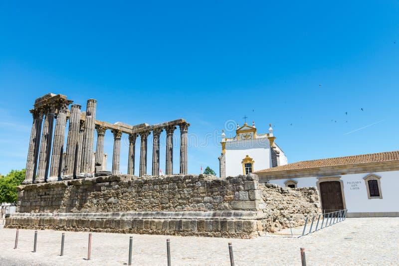 Dianna świątynia w Evora obrazy royalty free