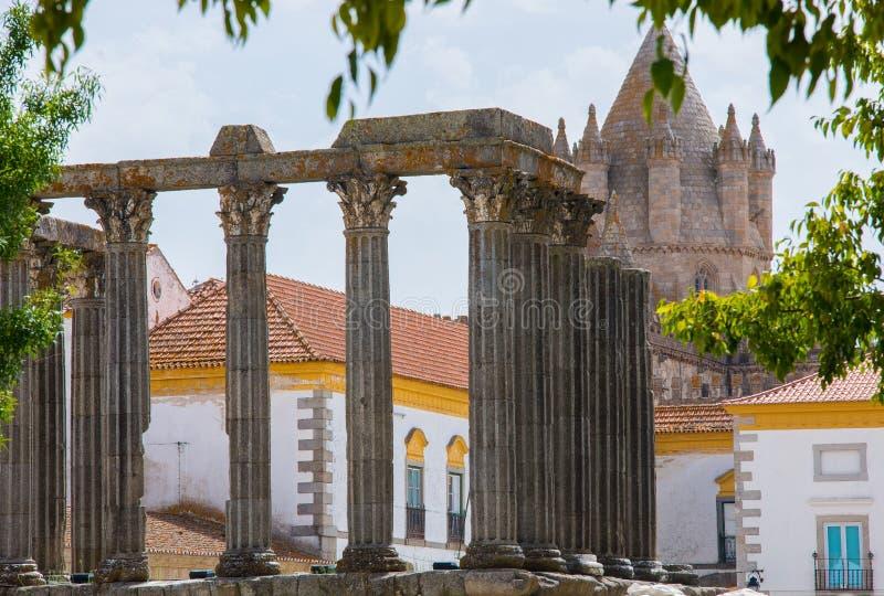 Dianna świątynia w Evora zdjęcie royalty free