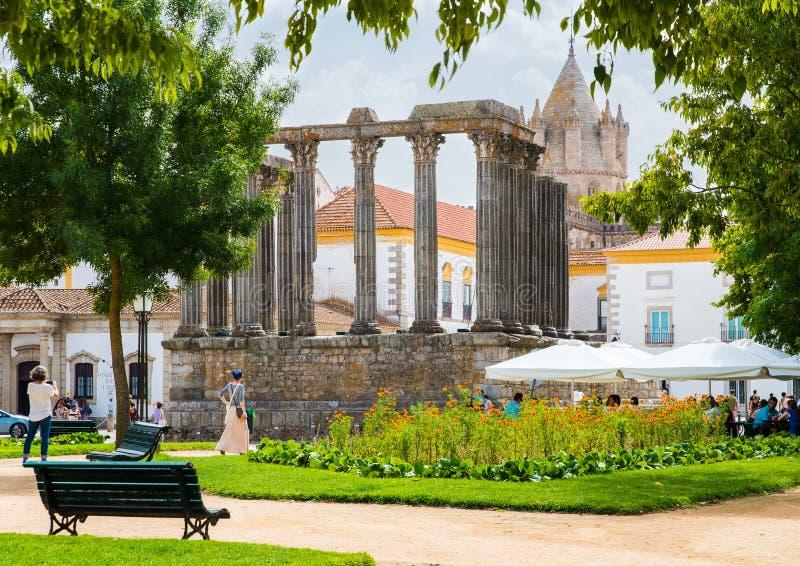 Dianna świątynia w Evora fotografia royalty free