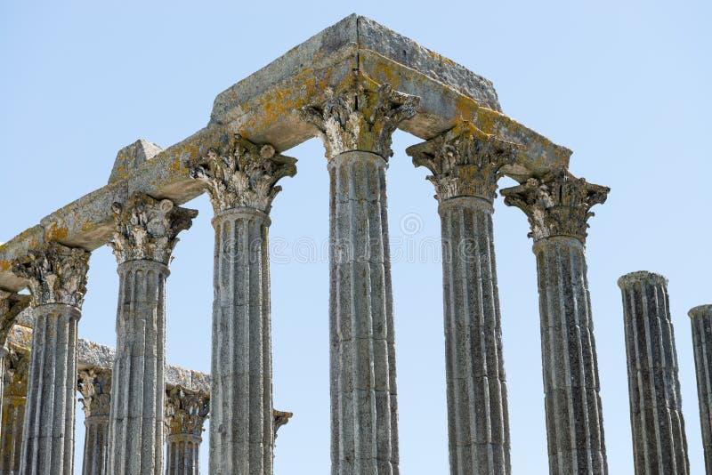 Dianna świątynia w Evora Antyczna rzymska świątynia w starym mieście fotografia stock
