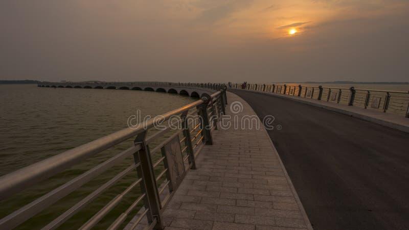 Dianshan Lake Rainbow Bridge royalty free stock image