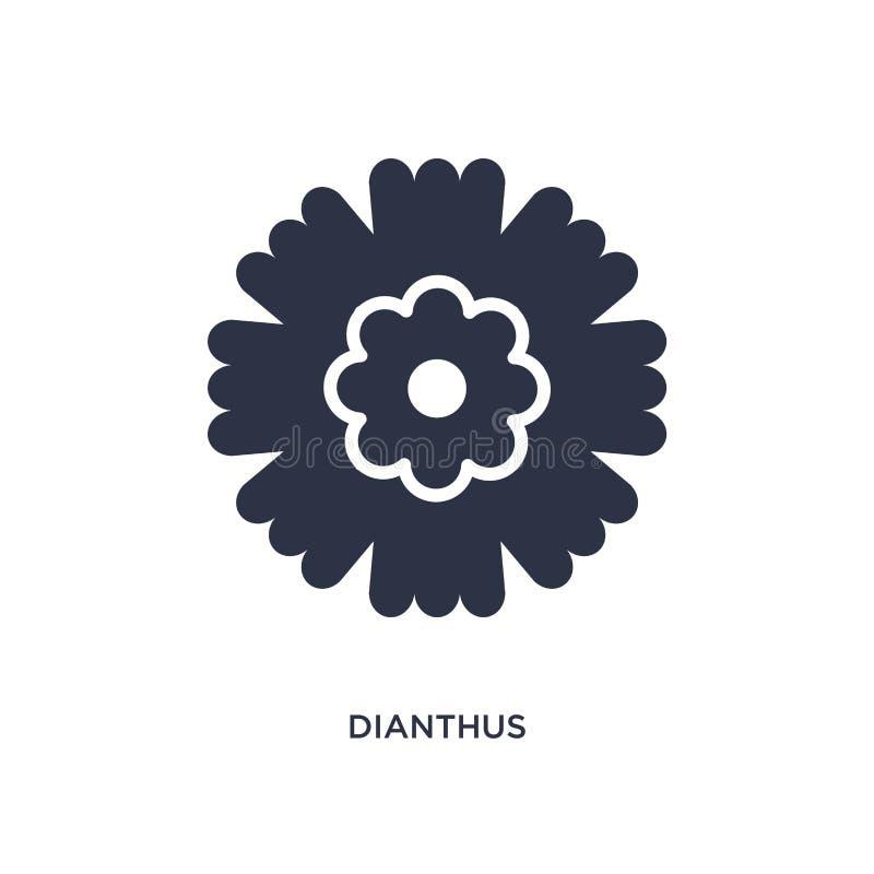 dianthussymbol på vit bakgrund Enkel beståndsdelillustration från naturbegrepp royaltyfri illustrationer