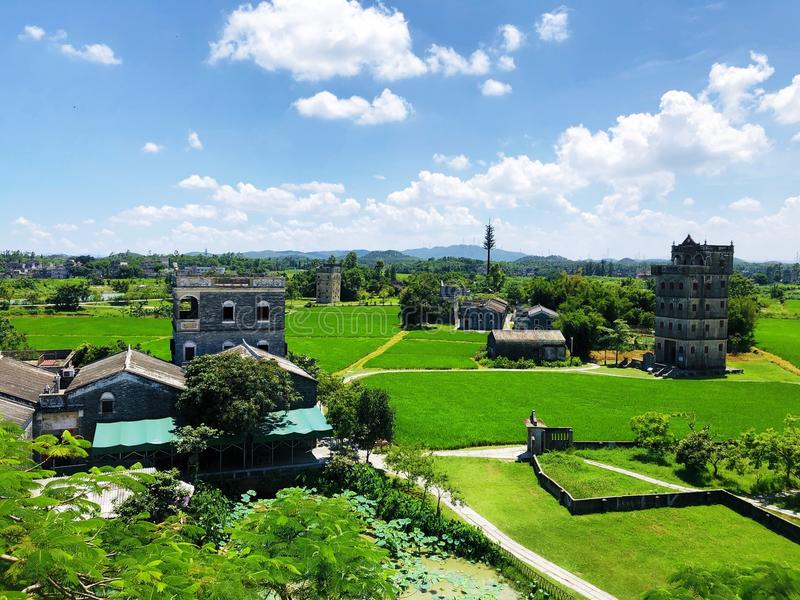 Kaiping Diaolou buildings royalty free stock photography
